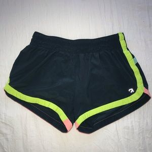Gap fit size XS Turquoise + neon shorts